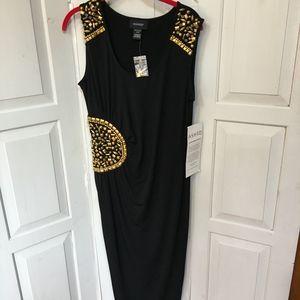 Ashro Black Embellished Dress